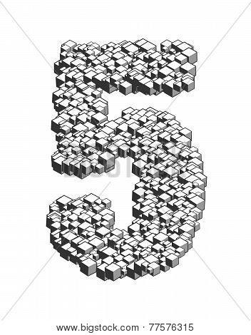 3D Cubes Number 5