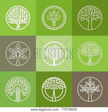 Vector Tree Logo Set