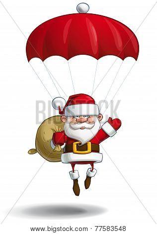Happy Santa - Parachute Sack Of Gifts