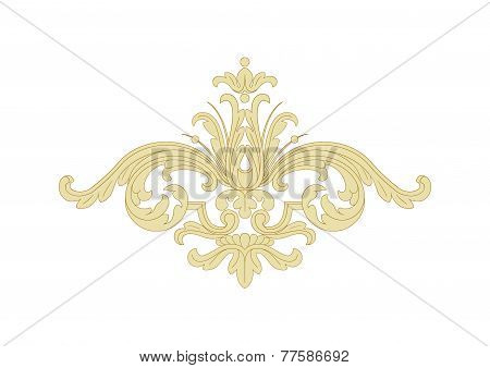 Fancy panels Rococo, Baroque. Incrustation wood veneer, Rocaille ornament, rocaille. poster