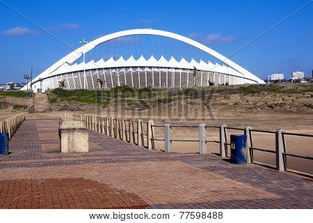Moses Mabhida Stadium As Seen From Pier On Durban Beach