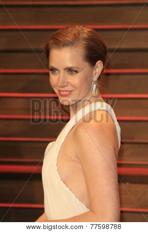 LOS ANGELES - MAR 2:  Amy Adams at the 2014 Vanity Fair Oscar Party at the Sunset Boulevard on March 2, 2014 in West Hollywood, CA