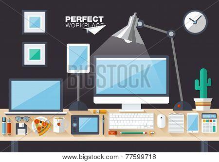 Flat Design Vector Illustration Concept