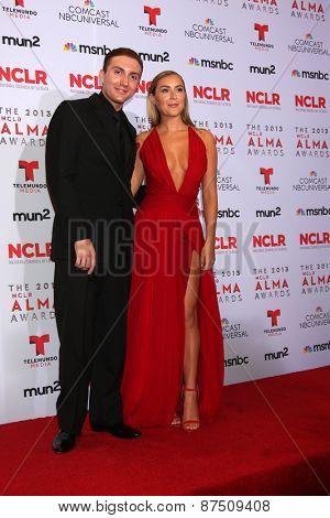 LOS ANGELES - SEP 27:  Daryl Sabara, Alexa Vega at the 2013 ALMA Awards - Press Room at Pasadena Civic Auditorium on September 27, 2013 in Pasadena, CA