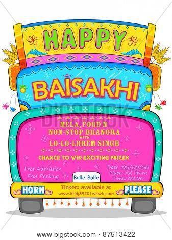 illustration of Happy Baisakhi background