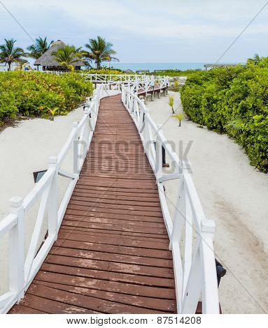 Romantic Walkway To Go To The Beach
