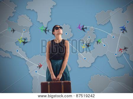 Globetrotting woman