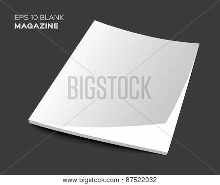 3D blank magazine or brochure