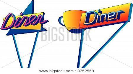 Diner Signs.