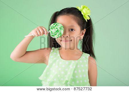 Filipino girl with sugarplum