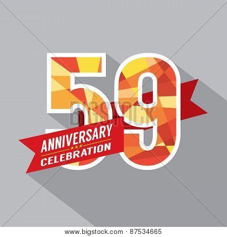 59Th Years Anniversary Celebration Design.