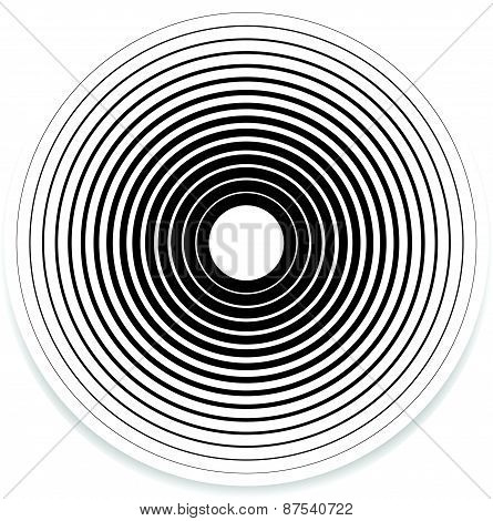 Concentric Circle Elements / Backgrounds. Abstract Circle Pattern.