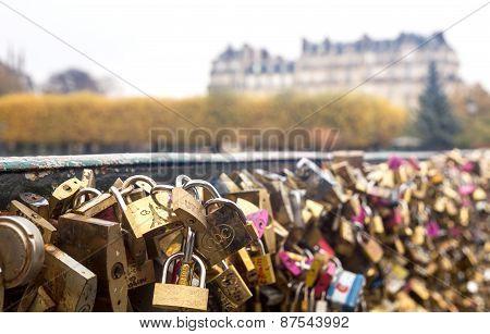 Paris, Love Locks At Pont Des Arts