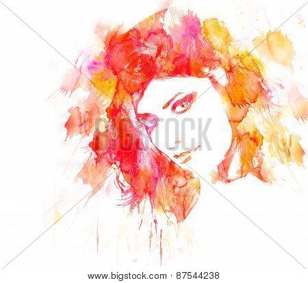 Beauty Woman Portrait.
