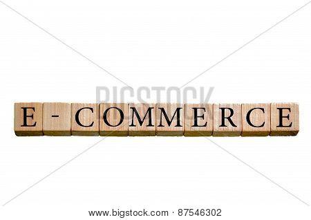 Word E-commerce Isolated On White Background