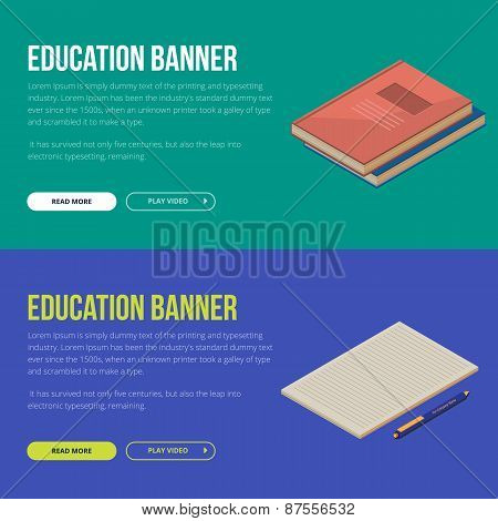 Vector illustration concepts of education and online learning
