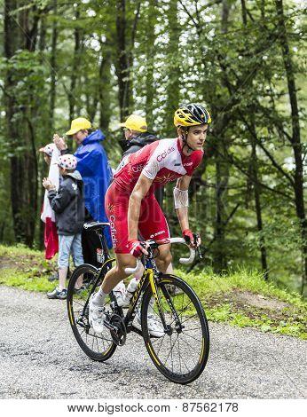 The Cyclist Rudy Molard  Climbing Col Du Platzerwasel - Tour De France 2014