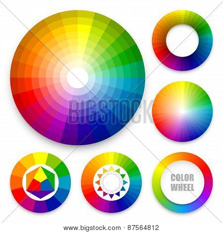 Set of color wheels