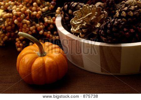 Herbst Kürbis Anordnung