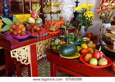 Offerings Of Fruit To Fertility Deity