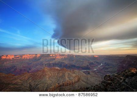 Sunset Grand Canyon Az, Usa