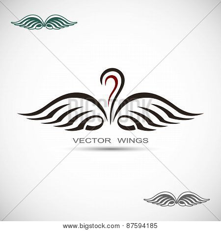 Label with wings