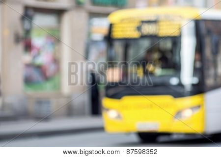 The Vague Image Of Bus