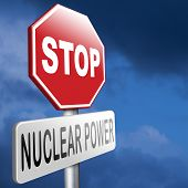 no nuclear power stop radiactivity radio active waste from nuclear power plant danger of radiation and risk of contamination by gamma radiation poster