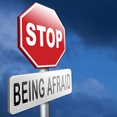 stop being afraid fear for snakes height needles spiders darkness arachnaphobia phobia psycholigical paralysis panic attack poster