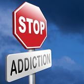 stop addiction of alcohol gaming internet computer drugs gamble addict get them to rehab or rehabilitation poster