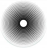 Concentric Circle Elements / Backgrounds. Abstract circle pattern. poster