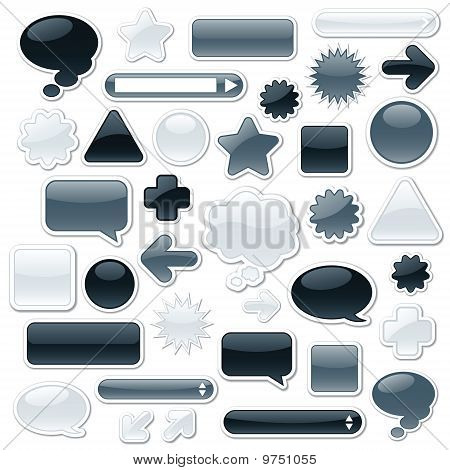 Monochromatic Web Elements