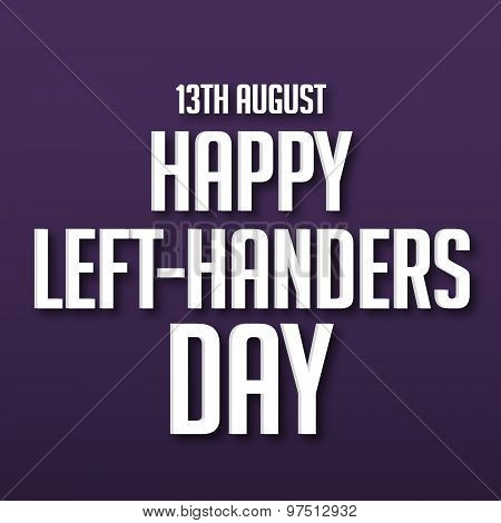 illustration of a stylish text for Happy Left Handers Day. poster