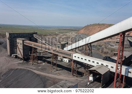 Coal Preparation Plant And The Surrounding Views. Donbass, Ukraine