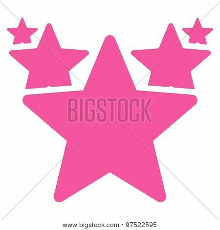 Hit parade icon. Glyph style is flat symbols, pink color, rounded angles, white background. poster