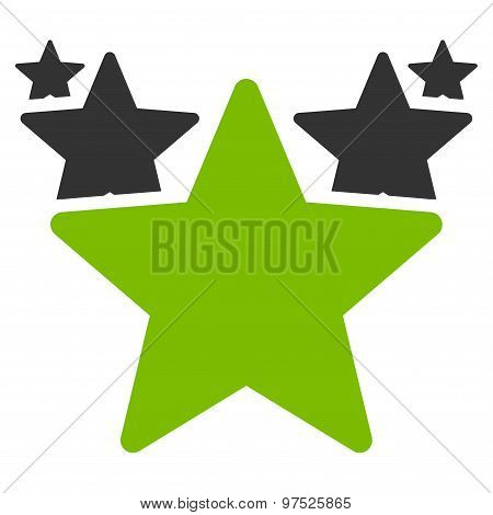 Hit parade icon. Vector style is flat bicolor symbols, eco green and gray colors, rounded angles, white background. poster