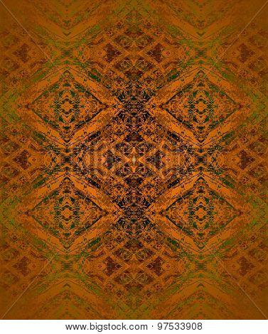 Seamless diamond pattern coppery