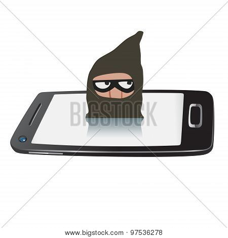 Thief On Smartphone