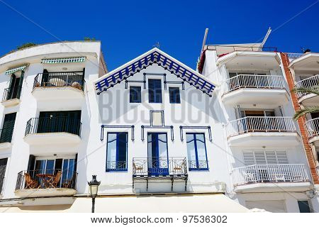 The Traditional Building In Sitges Town, Spain