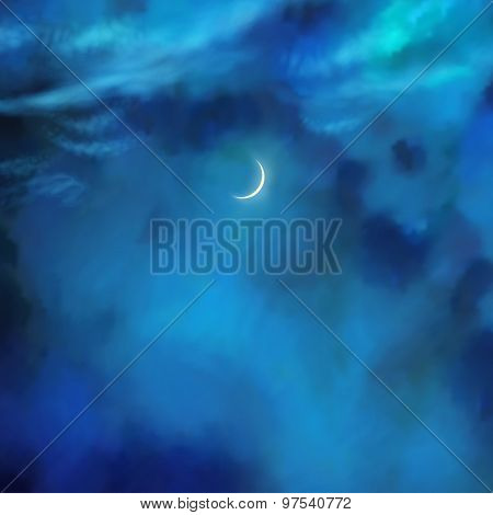 Vector Nightly Clouds