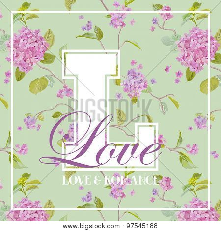 Shabby Chic Flowers Graphic Design - for t-shirt, fashion, prints - in vector