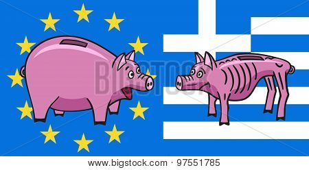 European piggy bank.