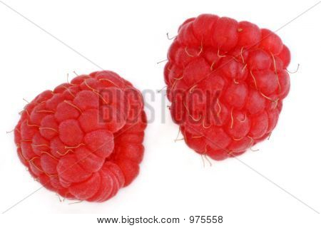 Two Red Raspberries
