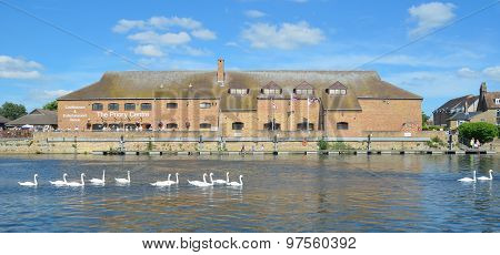 The Priory Centre on the river Ouse at St Neots.