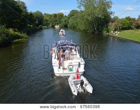 Cabin Cruisers on the river Ouse