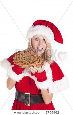 Santas Helper Big Cookie Bite Smile