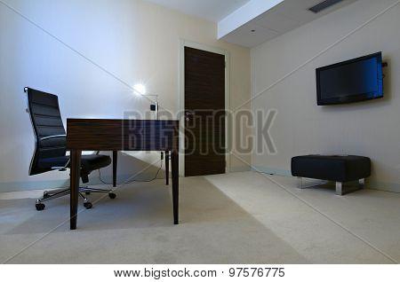 Minimalistic Office Room Interior