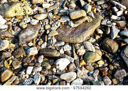 Beautiful Stones At The Beach With Interesting Harmonic Structure