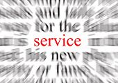 a conceptual image representing a focus on service poster