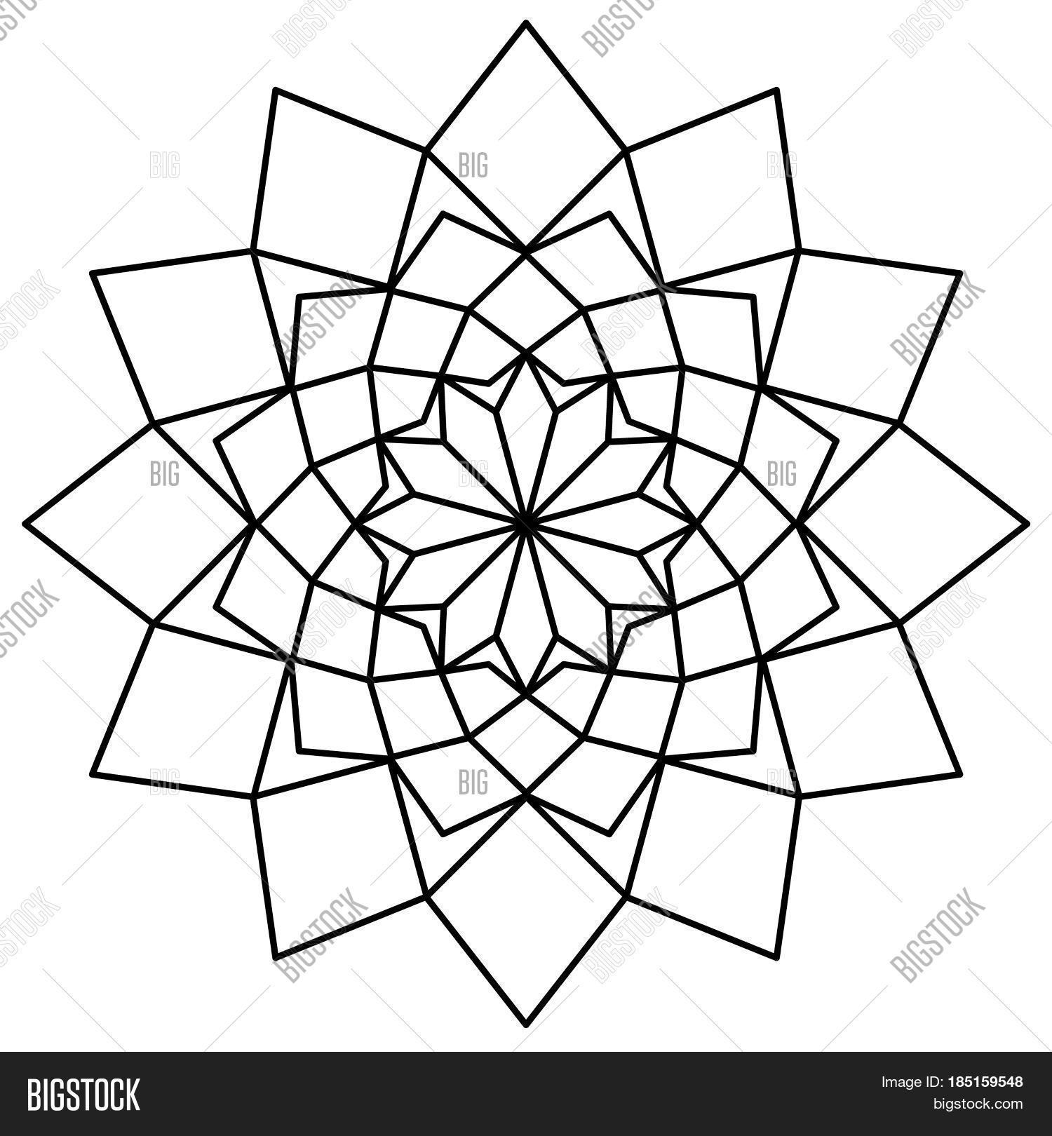 Simple Mandala Black Image & Photo (Free Trial) | Bigstock
